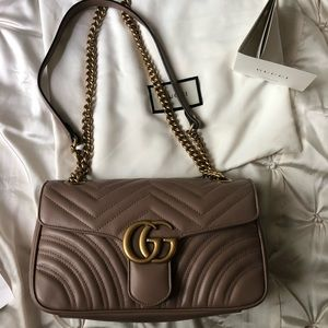 Never worn small GG Marmont shoulder bag pink